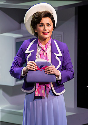 Amber Davies 'Judy Bernly'. 9 to 5 The Musical.