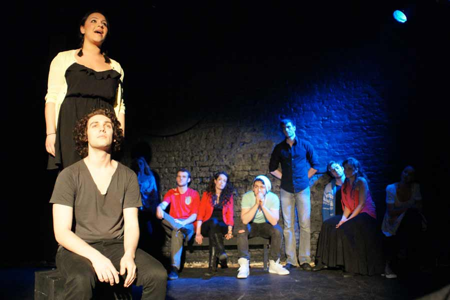 Billy Cullum and the cast of Godspell at the Union Theatre
