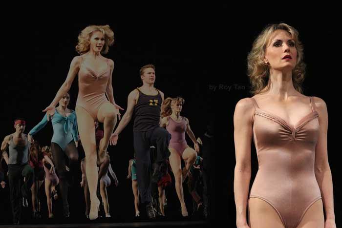 A Chorus Line at the London Palladium: Leigh Zimmerman as Shelia