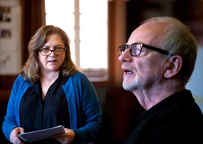 Bakersfield Mist rehearsal photos: Kathleen Turner and Ian McDiarmid