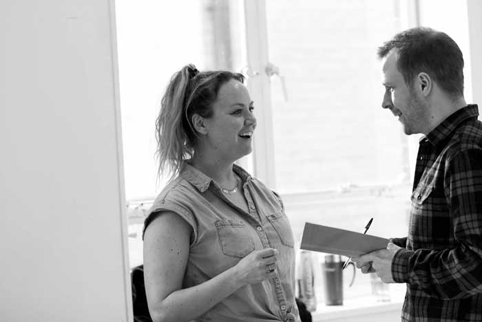 Beautiful Thing - Charlie Brooks & Nikolai Foster in rehearsal