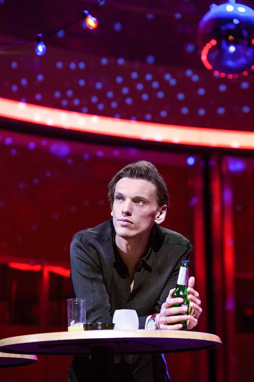 Jamie Campbell Bower (Joe) in Bend It Like Beckham The Musical, photo Ellie Kurttz