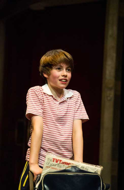Billy (Matteo Zecca) in Billy Elliot the Musical, photo by Alastair Muir