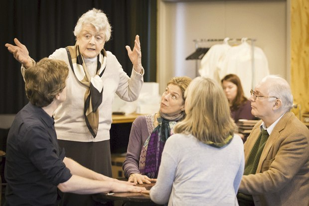 Blithe Spirit at the Gielgud Theatre - Rehearsals