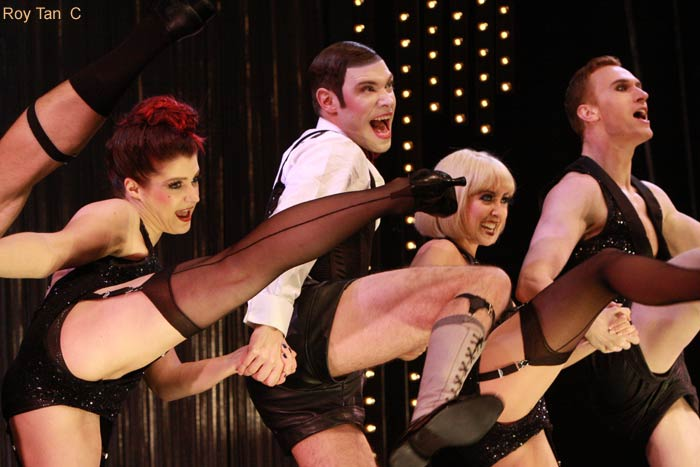 Will Young and the cast of Cabaret at the Savoy Theatre.