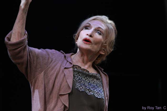 Sian Phillips in Cabaret at the Savoy Theatre.