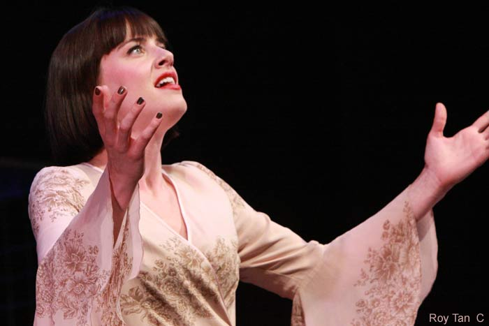 Michelle Ryan as Sally Bowles in Cabaret at the Savoy Theatre.