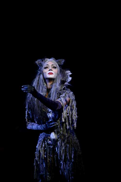 Nicole Scherzinger (Grizabella) in Cats at the London Palladium. Photo credit Alessandro Pinna