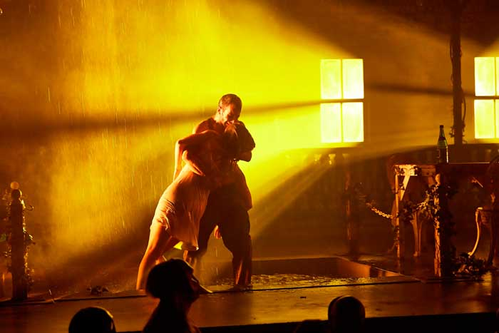 Omar Gordon and Laure Bachelot in The Drowned Man A Hollywood Fable. Photo Birgit & Ralf
