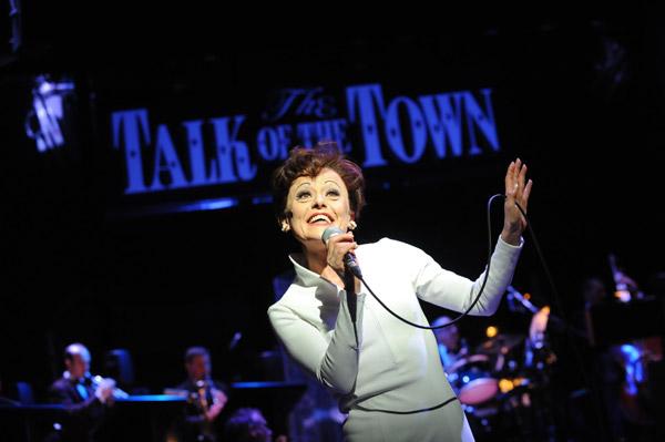 Tracie Bennett as Judy Garland in End of the Rainbow at the Trafalgar Studios
