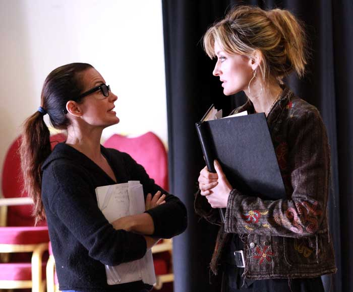 Kristin Davis (Beth Gallagher) and Natascha McElhone (Alex Forrest). Photo by Helen Murray