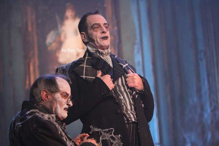 JAMES VAUGHAN and JACK ELLIS in Great Expectations at the Vaudeville Theatre