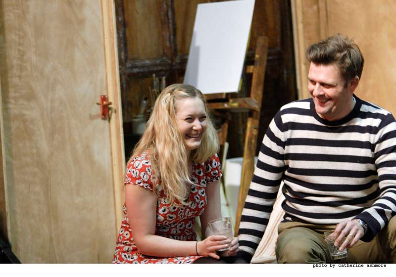 Hay Fever - Rehearsals: Amy Morgan, and Sam Callis