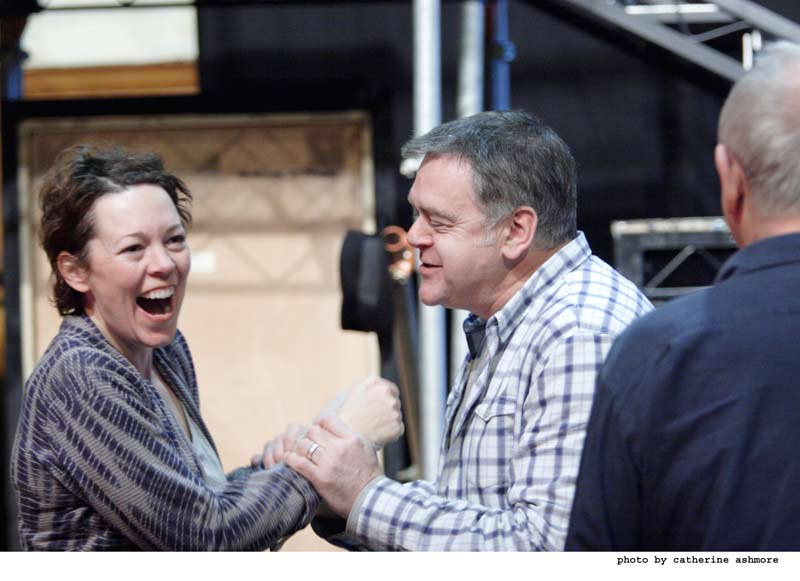 Hay Fever - Rehearsals: Olivia Colman and Kevin McNally