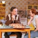 Richard Harrington as Johnny and Katherine Parkinson as Judy in Home, I'm Darling (c) Manuel Harlan