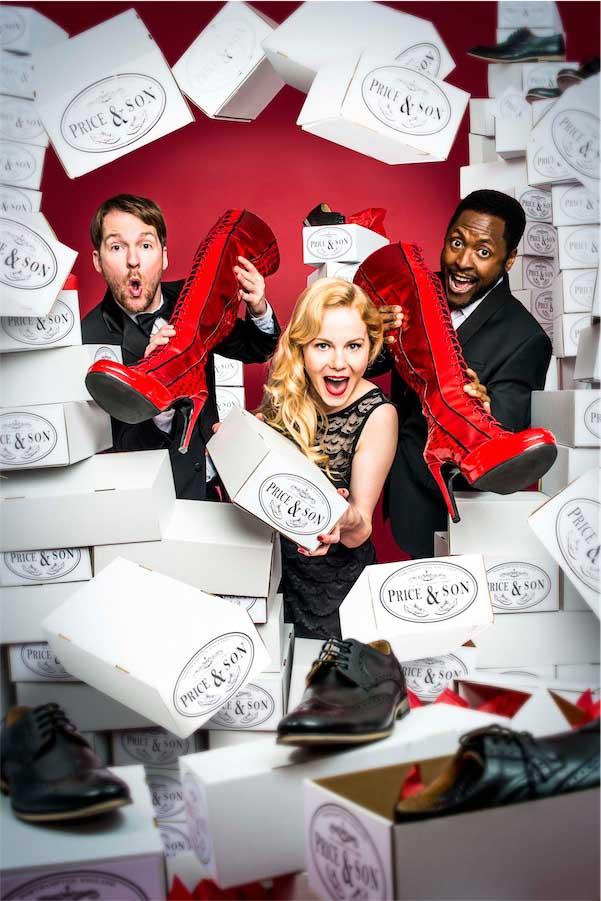Killian Donnelly, Amy Lennox, Matt Henry in Kinky Boots