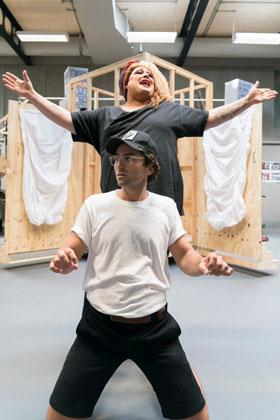 Little Shop of Horrors -rehearsal -  Regents Park Open Air Theatre