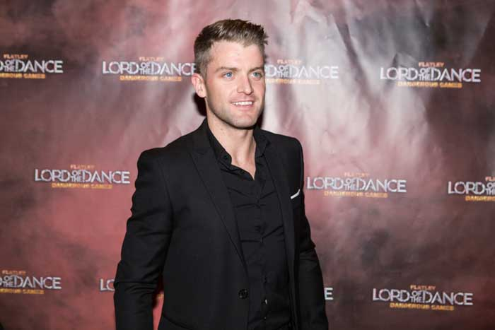 Dancer James Keegan at Gala Night Lord of the Dance