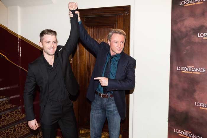 James Keegan and Michael Flatley at Gala Night Lord of the Dance