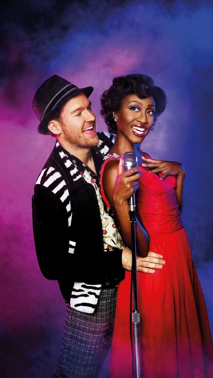 Beverley Knight and Killian Donnelly in Memphis The Musical at the Shaftesbury Theatre. Photo: Matt Crockett