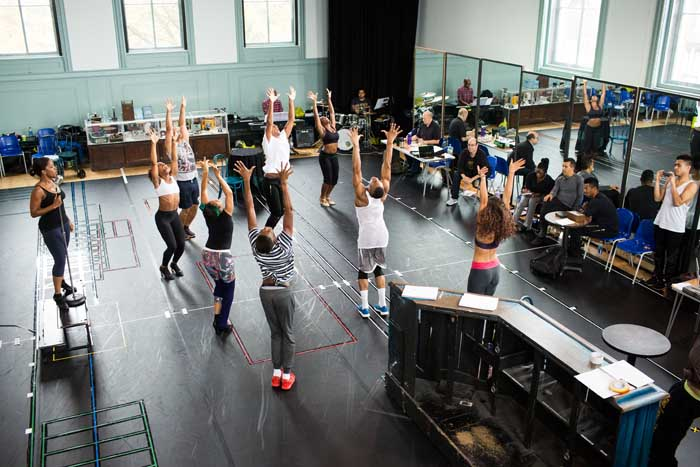 Photos of rehearsals for Memphis The Musical at the Shaftesbury Theatre starring Beverley Knight