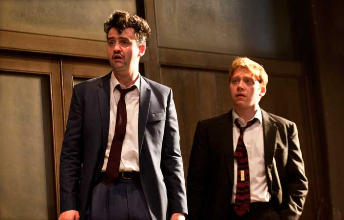 Daniel Mays (Potts) and Rupert Grint (Sweets) in Mojo