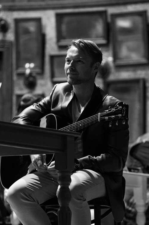 Ronan Keating in rehearsals for Once, photo by Matt Crockett