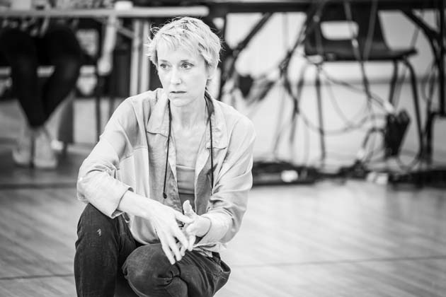 Lia Williams in rehearsal for Pinter One.