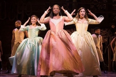 l-r Rachelle Ann Go (Eliza), Rachel John (Angelica) and Christine Allado (Peggy) - The Schuyler Sisters - Photo Matthew Murphy
