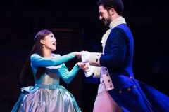 l-r Rachelle Ann Go (Eliza Hamilton) and Jamael Westman (Alexander Hamilton) - Photo Matthew Murphy