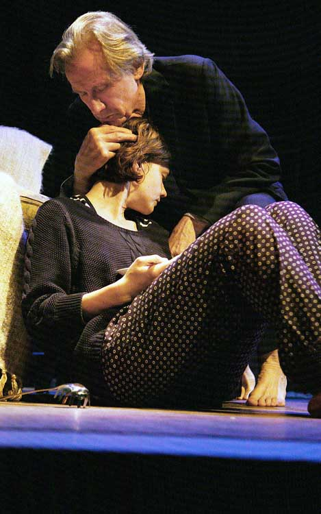 Skylight at Wyndham's Theatre - Bill Nighy (Tom Sergeant) and Carey Mulligan (Kyra Hollis), photo by John Haynes