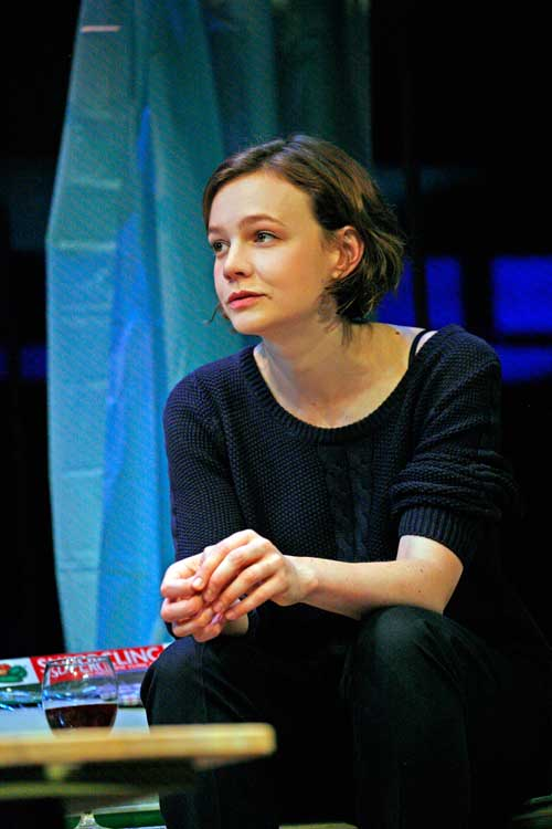 Skylight at Wyndham's Theatre - Carey Mulligan (Kyra Hollis)  photo by John Haynes