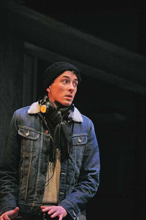 Skylight at Wyndham's Theatre - Matthew Beard (Edward Sergeant), photo by John Haynes