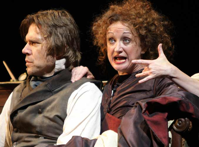 Rod Gilfry and Caroline O'Connor in Sweeney Todd at the Théâtre du Châtelet, Paris