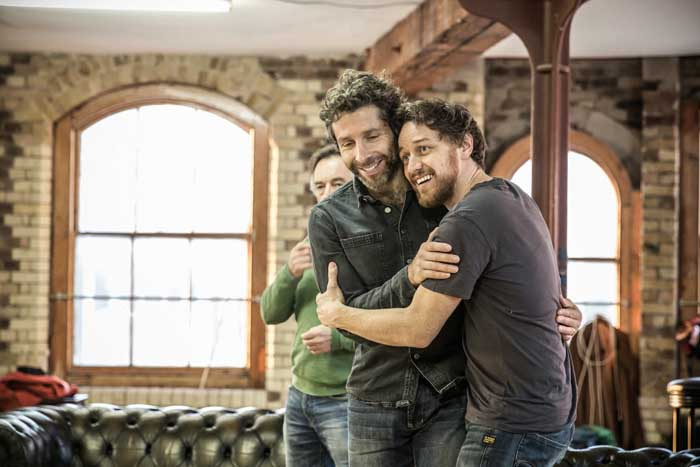 Elliot Levey & James McAvoy - The Ruling Class - Rehearsal Images - Photo By Marc Brenner