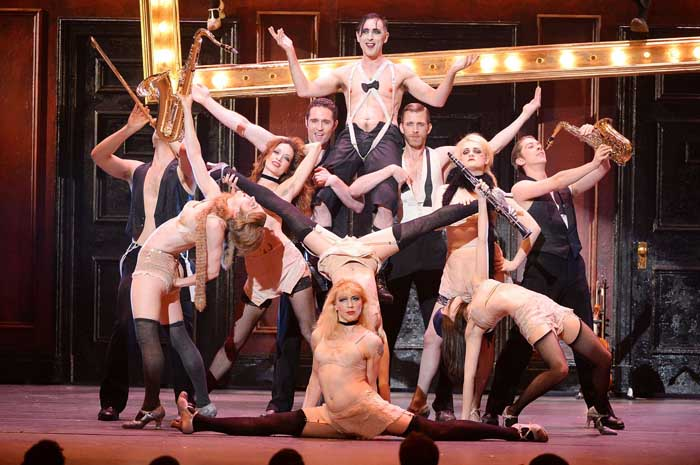 Alan Cumming and the cast of Cabaret the Musical Broadway