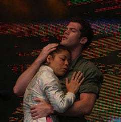 The cast of Miss Saigon at West End Live 2014