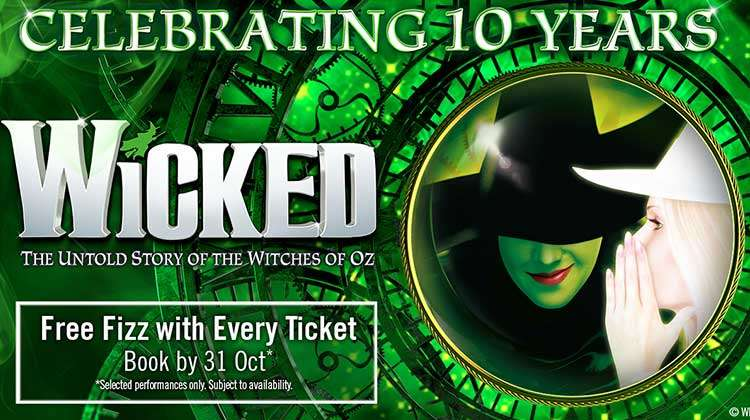 | Wicked at the Apollo Victoria Theatre