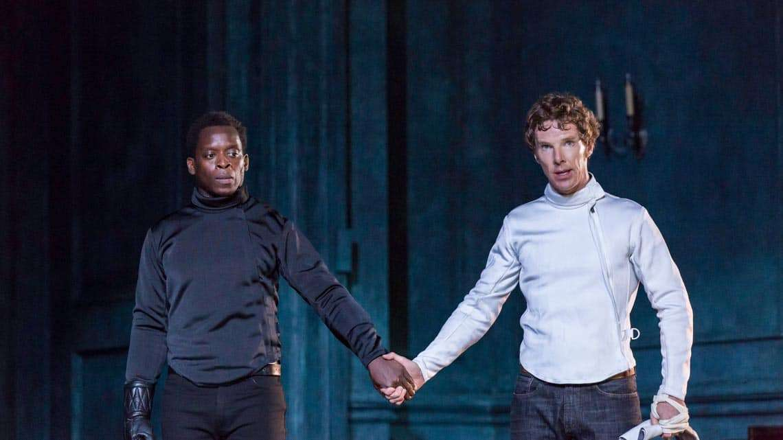 Kobna Holdbrook-Smith  and Benedict Cumberbatch|Hamlet |Photo: Johan Persson | Hamlet starring Benedict Cumberbatch at the Barbican Theatre