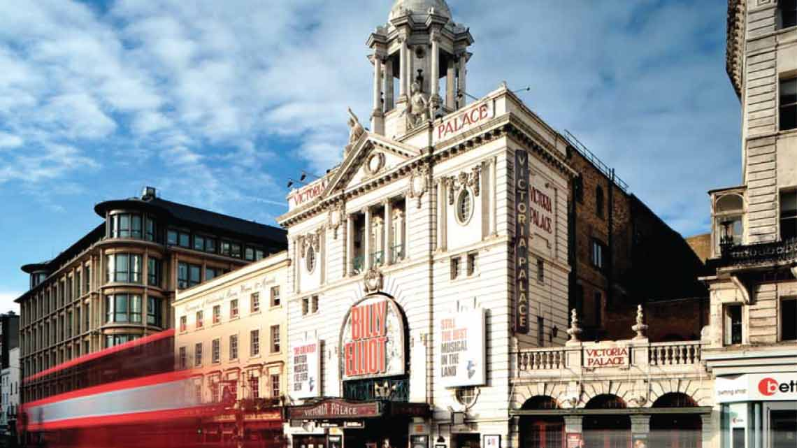 The Victoria Palace Theatre, currently home to Billy Elliot