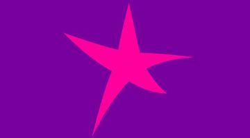 WET star purple background big pink star