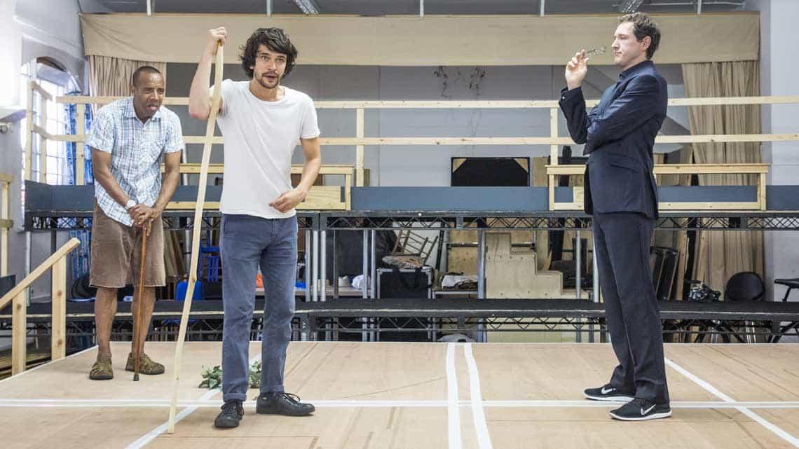 Ben Whishaw & Bertie Carvel in rehearsal for Bakkhai | Almedia Theatre | Photo: Marc Brenner | Rehearsal photos of Ben Whishaw and the cast of Bakkhai