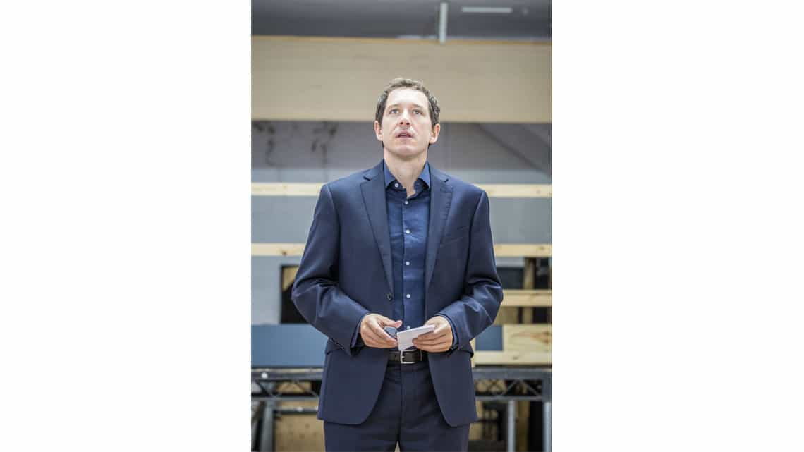 Bertie Carvel in rehearsal for Bakkhai | Almedia Theatre | Photo: Marc Brenner | Rehearsal photos of Ben Whishaw and the cast of Bakkhai