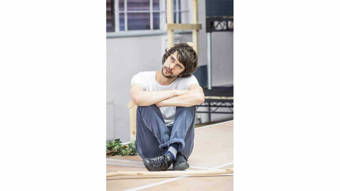 Ben Whishaw in rehearsal for Bakkhai | Almedia Theatre | Photo: Marc Brenner | Rehearsal photos of Ben Whishaw and the cast of Bakkhai