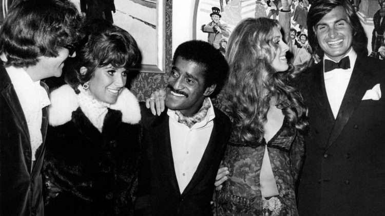 Leslie Bricusse, his wife Evie, Sammy Davis Jr., George and Alana Hamilton (1970)