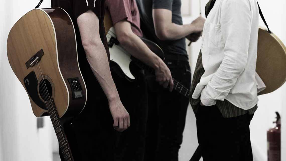 L-R Danny Horn, Tom Whitelock, Damien Walsh, Oliver Hoare | Sunny Afternoon| Photo: Kevin Cummins)