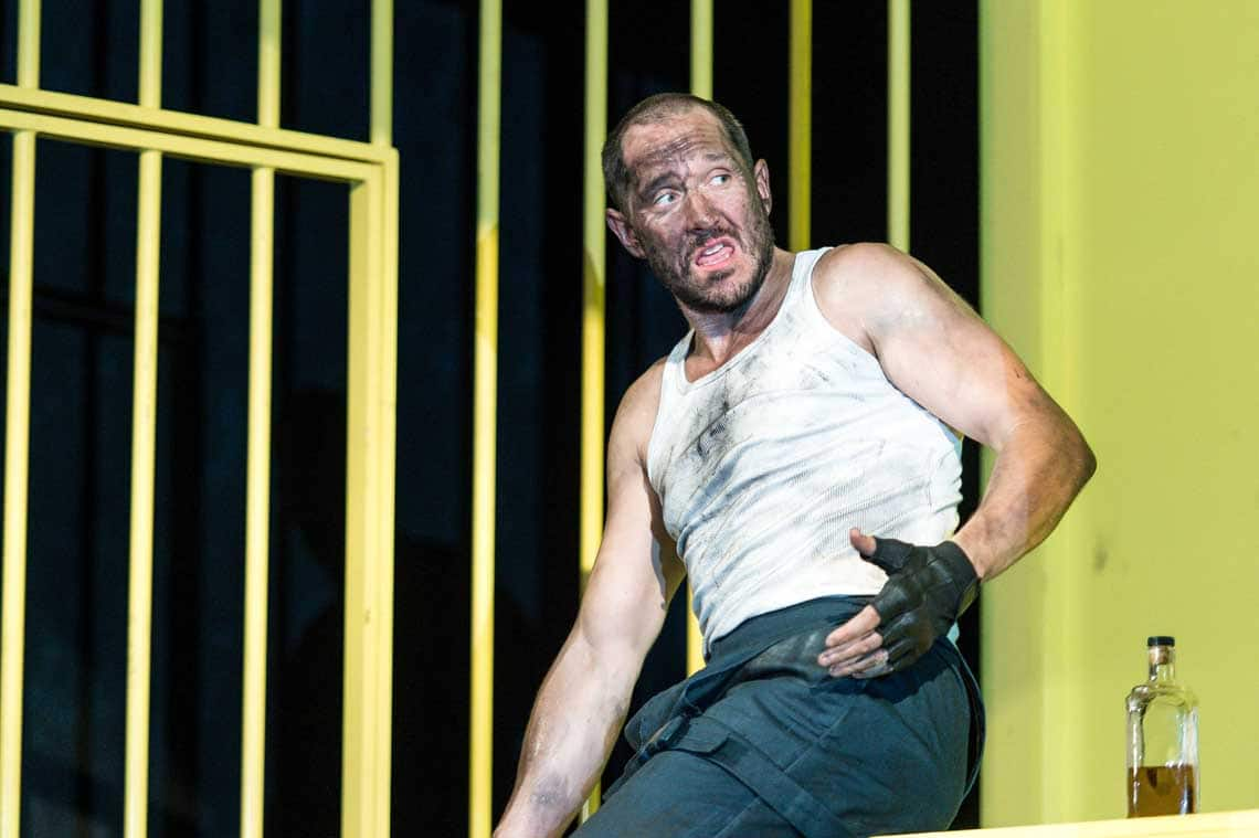 Bertie Carvel (Yank) in The Hairy Ape at The Old Vic | Photo: Manuel Harlan | Production photos: The Hairy Ape starring Bertie Carvel
