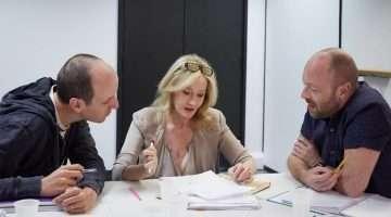 Jack Thorne, J.K. Rowling and John Tiffany. Photo by Debra Hurford Brown ©J.K. Rowling