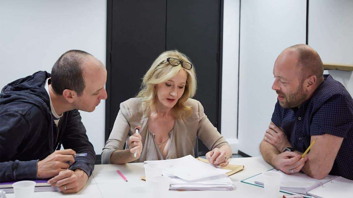 Jack Thorne, J.K. Rowling and John Tiffany. Photo by Debra Hurford Brown ©J.K. Rowling | J.K. Rowling announces plot of Harry Potter and The Cursed Child