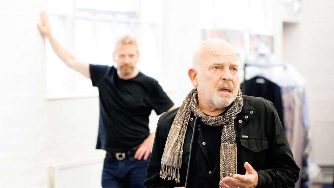 John Shrapnel in rehearsals for Harlequinade. Credit Johan Persson